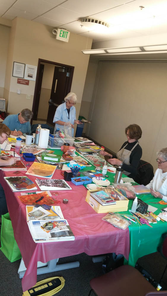 Visual journaling with rocky mountain creative quilters-2
