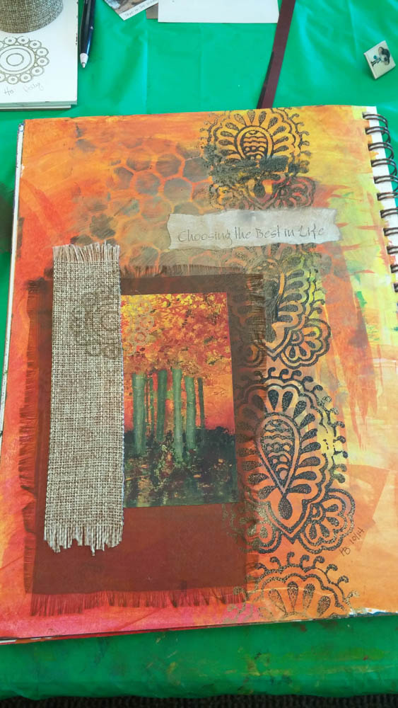 Visual journaling with rocky mountain creative quilters-8