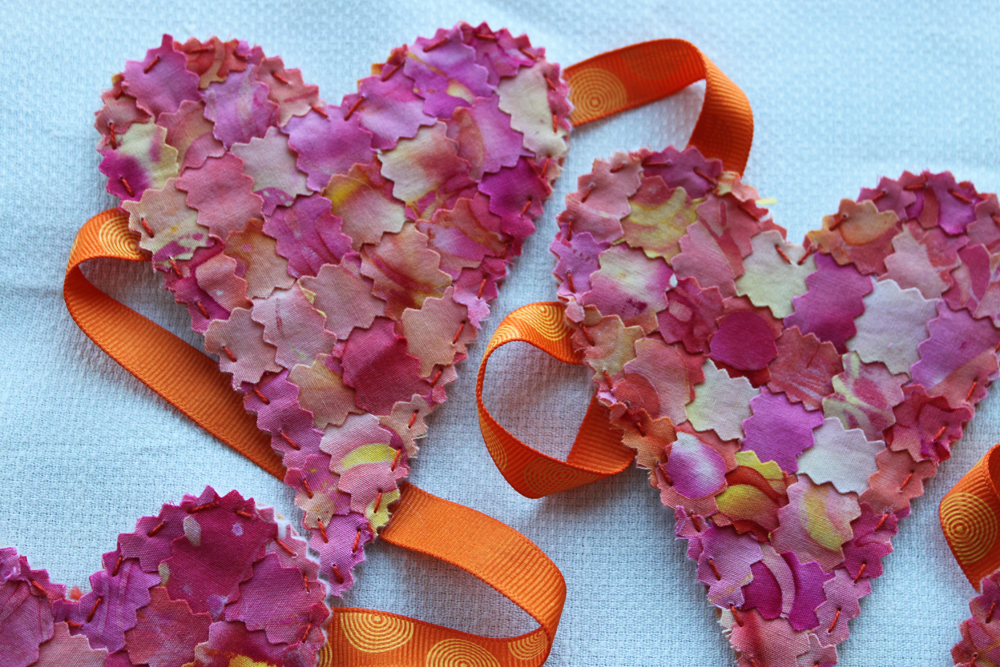pinked heart garland