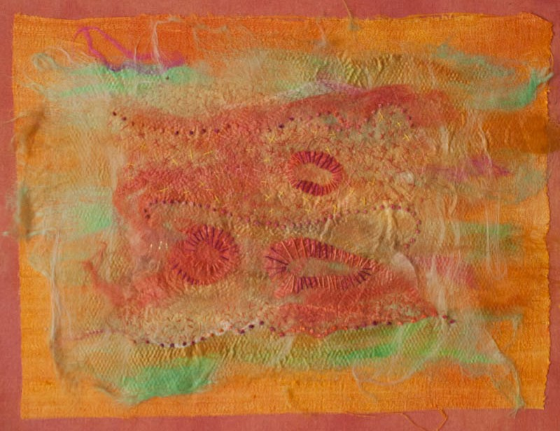 silk paper collage 1 2