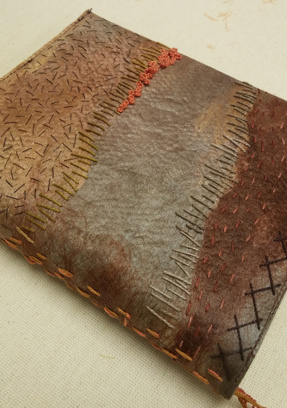 silk paper notebook cover small